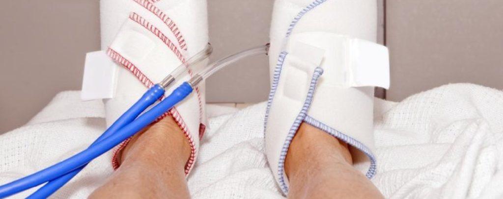 como é o coágulo de sangue em sua perna tratada