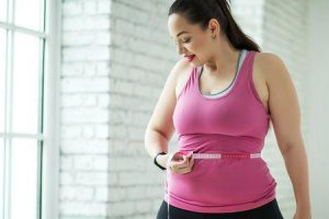 ganhando peso enquanto se exercita