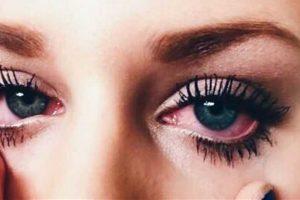 ligação entre olho maquiagem e olhos secos