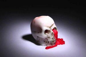 sangramento dentro do crânio