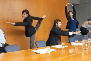 treino no local de trabalho