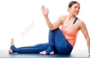 ardha matsyendrasana ou sentado meia torção da coluna vertebral