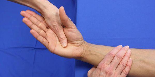 dor e dor do flexor radial do carpo