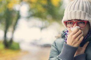 infecção por rinovírus ou resfriado comum