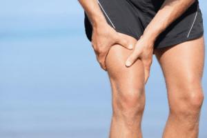 lesão ou lesão muscular na perna