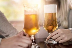 nariz entupido em beber álcool