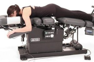 técnica de distração de flexão em tratamento quiroprático